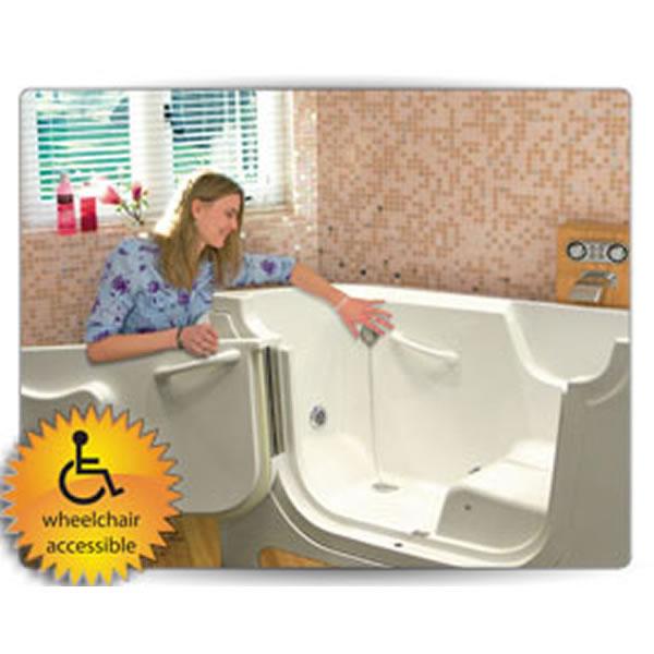 fiat brand wheelchair receptor shower base terrazzo barrier free threshold 48u201d x70u201d